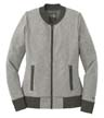 LNEA503 - Ladies' French Terry Baseball Full-Zip