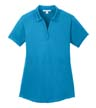 L569 - Ladies' Diamond Jacquard Polo